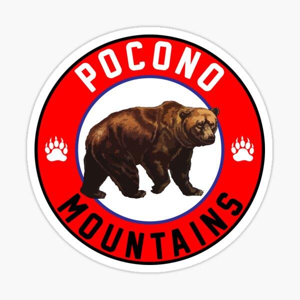 POCONO MOUNTAINS PENNSYLVANIA MOUNTAIN BEAR POCONOS HIKING BIKING CLIMBING Sticker