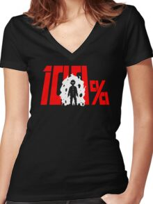 100% Animosity Women's Fitted V-Neck T-Shirt