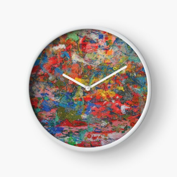 Colourful Paint Splatter Clock