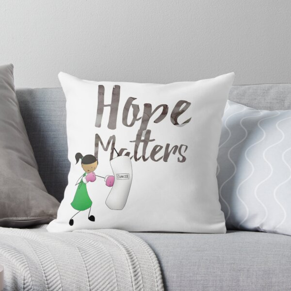 Champion of Hope Throw Pillow