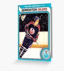 Wayne Gretzky Edmonton Oilers Hockey NHL Rookie Card  Greeting Card