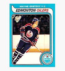 Wayne Gretzky Edmonton Oilers Hockey NHL Rookie Card  Photographic Print
