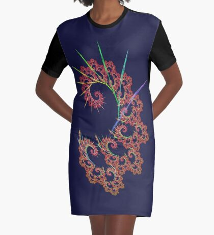 Dangerous #fractal art Graphic T-Shirt Dress