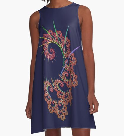 Dangerous #fractal art A-Line Dress