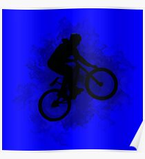 Digitally enhanced image of a bicycle stunt  Poster