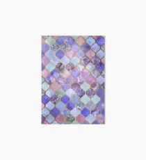 Royal Purple, Mauve & Indigo Decorative Moroccan Tile Pattern Art Board