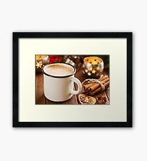 Cup of hot cocoa with mini marshmallows Framed Print