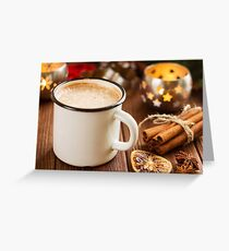 Cup of hot cocoa with mini marshmallows Greeting Card