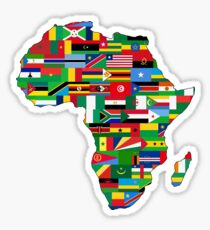 Africa Flags Map Sticker