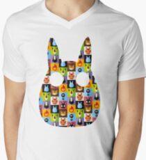 Miyazaki T-Shirt mit V-Ausschnitt
