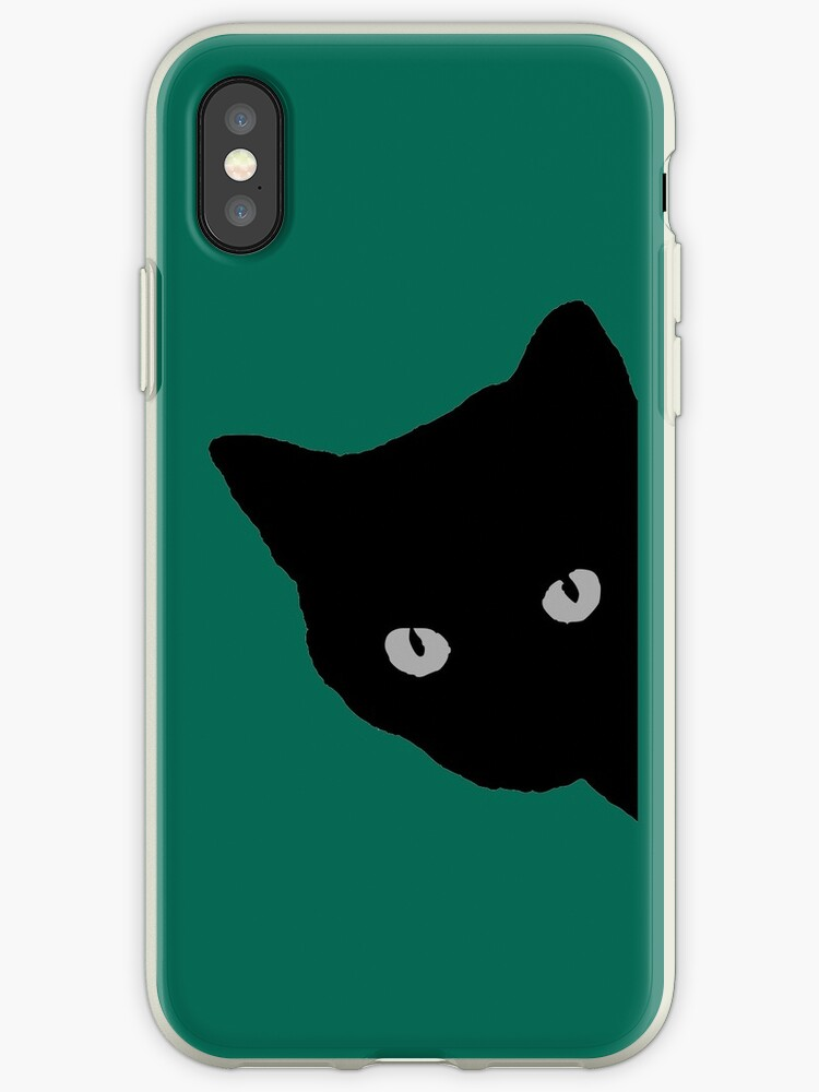 huge discount 7697e 38304 'black cat phone case kitty illustration animal pet cute sweet for girls  girly' iPhone Case by untagged-shop