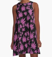 Pink Kush (Leaves in the wind) A-Line Dress