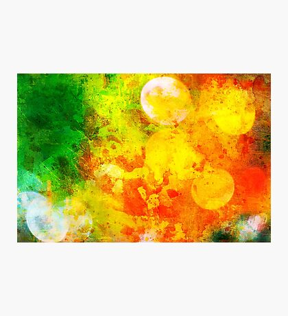 Colorful and smeared Photographic Print