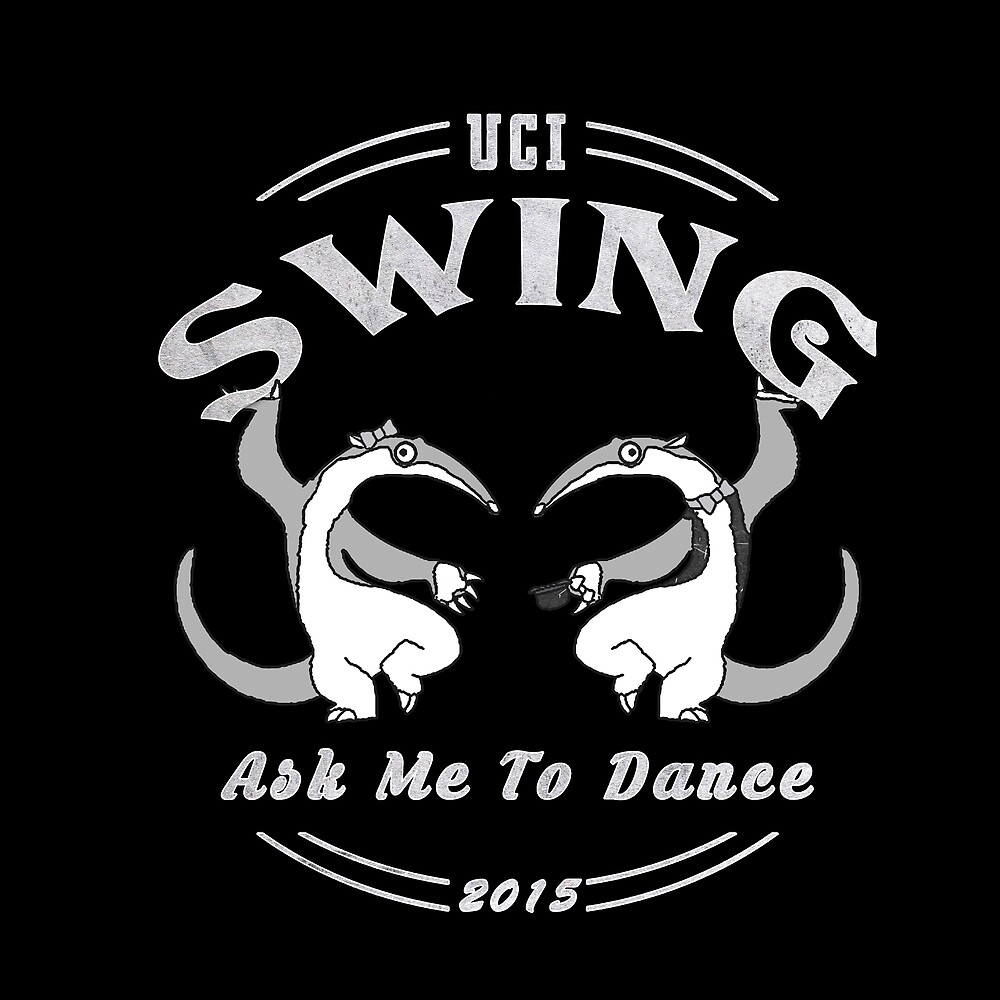 UCI Swing Club Dancing Anteaters 2015 White by LeilaniSmith