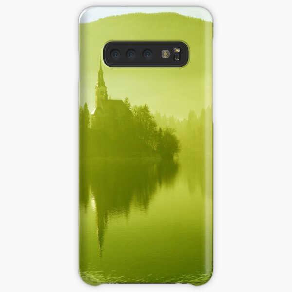 Church in mist on Lake Bled Slovenia Samsung Galaxy Snap Case