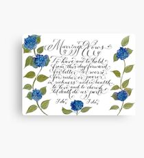 Marriage wedding vows typography quote Canvas Print