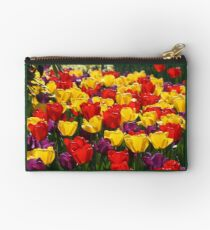 Bright, Colorful Tulips Studio Pouch