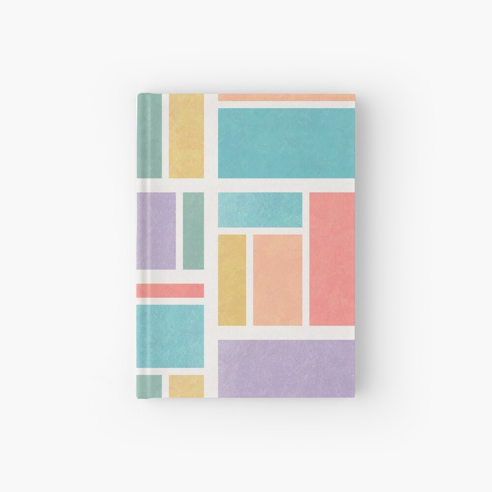 notebook cover with words saying just keep stimming and a drawing of a peaceful girl solving a rubik's cube
