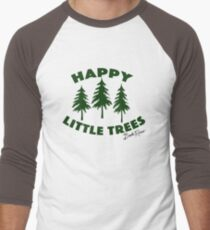 Happy Little Trees Men's Baseball ¾ T-Shirt