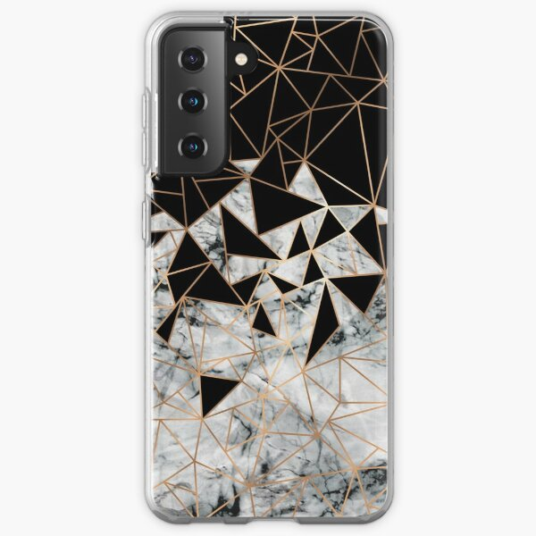 Marble polygon pattern Samsung Galaxy Soft Case