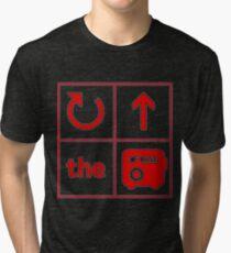 Turn Up the Radio Grid Tri-blend T-Shirt