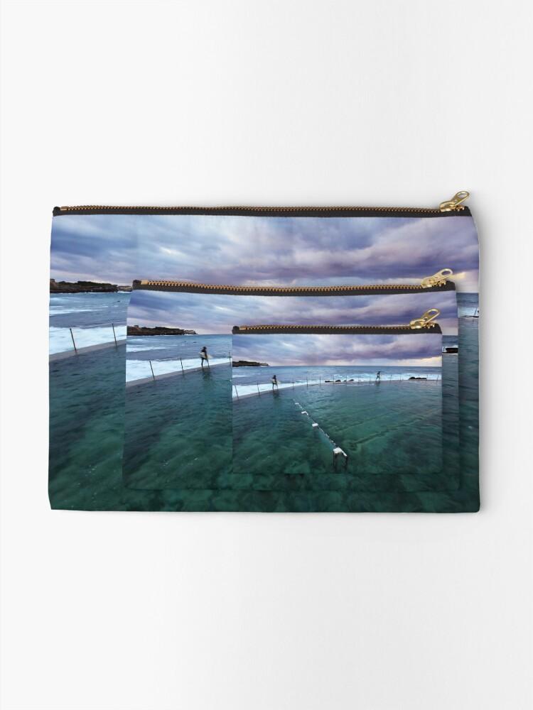 Alternate view of Bronte Beach Baths, Sydney, Australia Zipper Pouch
