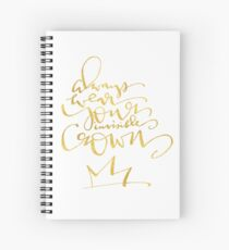 Invisible Crown Spiral Notebook