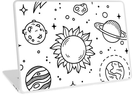 Vinilos Para Portátiles Dibujo De Tumblr En El Espacio De