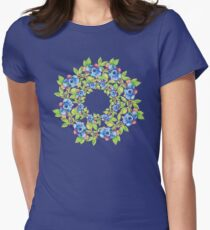 Swirling Maine Blueberries Women's Fitted T-Shirt