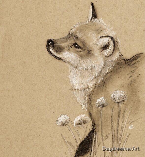 Baby Fox by DaydreamerArt