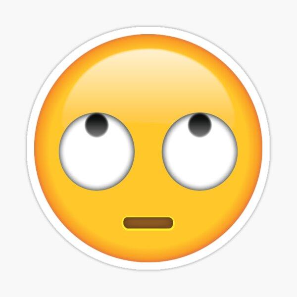 ojos rodantes emoji Pegatina