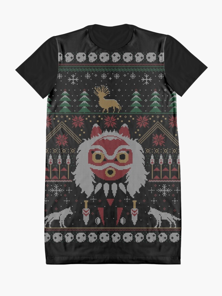 Alternate view of Ugly Princess Sweater Graphic T-Shirt Dress