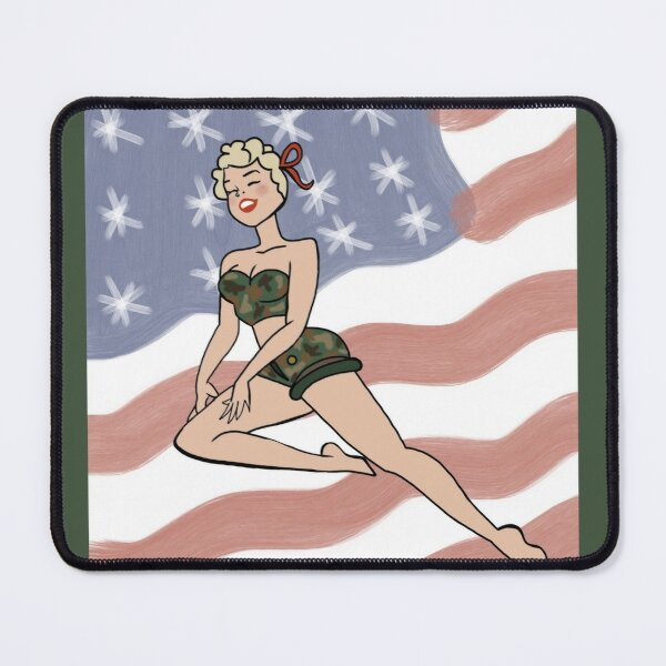 American Gal Mouse Pad