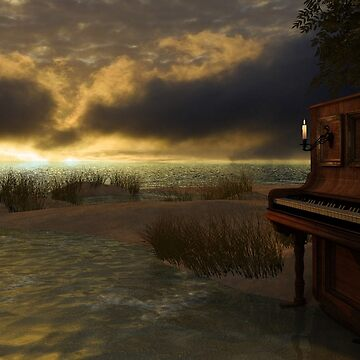 Piano at the beach von Reubsaet