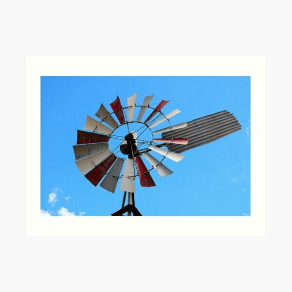 Windmill & Blue Skies Art Print