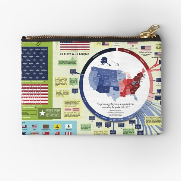 Our Flag: A Graphical History Zipper Pouch