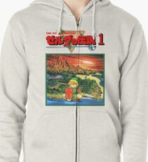 Legend of Zelda - Japanese Cover  Zipped Hoodie