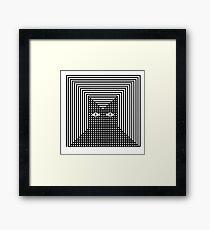 Feline The Line Cat Framed Print