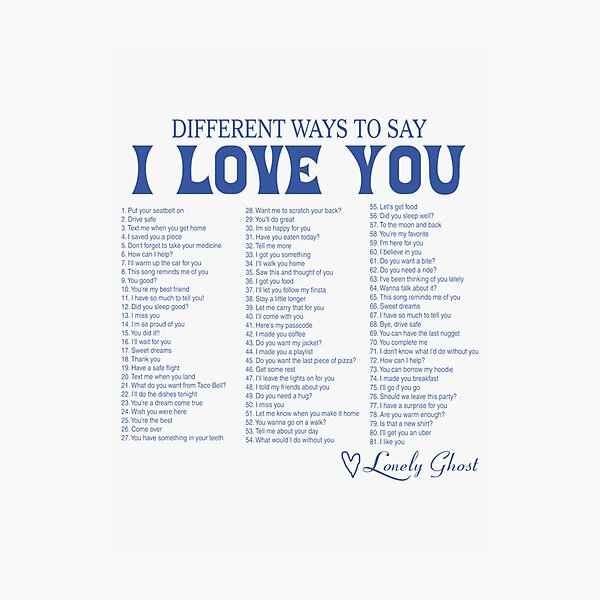 Different Ways To Say I Love You  Perfect Gift Photographic Print