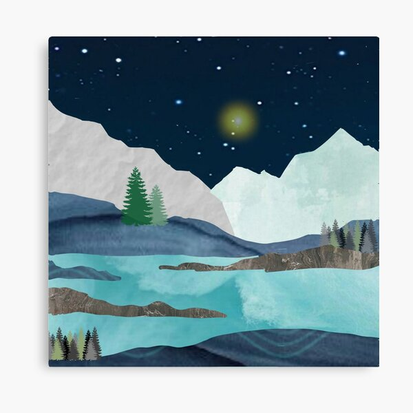 Midnight Lake (D079) Canvas Print