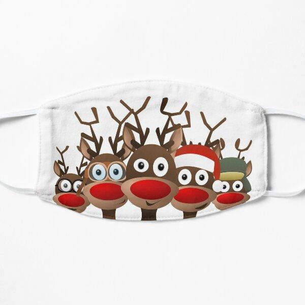 Weihnachten und Rentiere Flache Maske