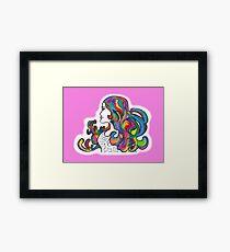 Rainbow Nouveau  Framed Print