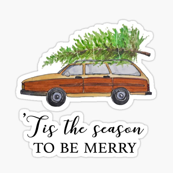 Christmas vacation, tis the season to be merry Sticker