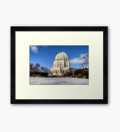 Baha'i House of Worship for the North American Continent Framed Print
