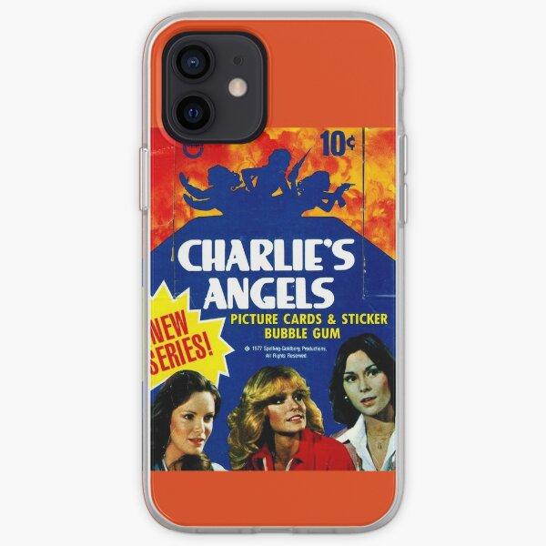 Vintage Charlie's Angels Topps Caja de tarjetas de comercio Funda blanda para iPhone