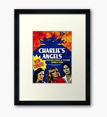 Vintage Charlie's Angels Topps Trading Cards Box Framed Print