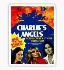 Vintage Charlies Engel Topps Trading Cards Box Sticker