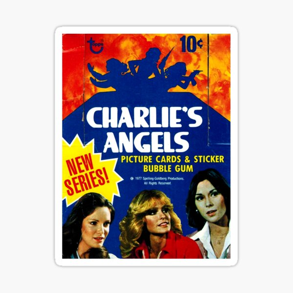 Vintage Charlie's Angels Topps Trading Cards Box Sticker