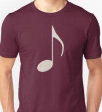 White Music Note Unisex T-Shirt