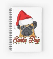 Santa Pug Weihnachtsdesign Spiralblock